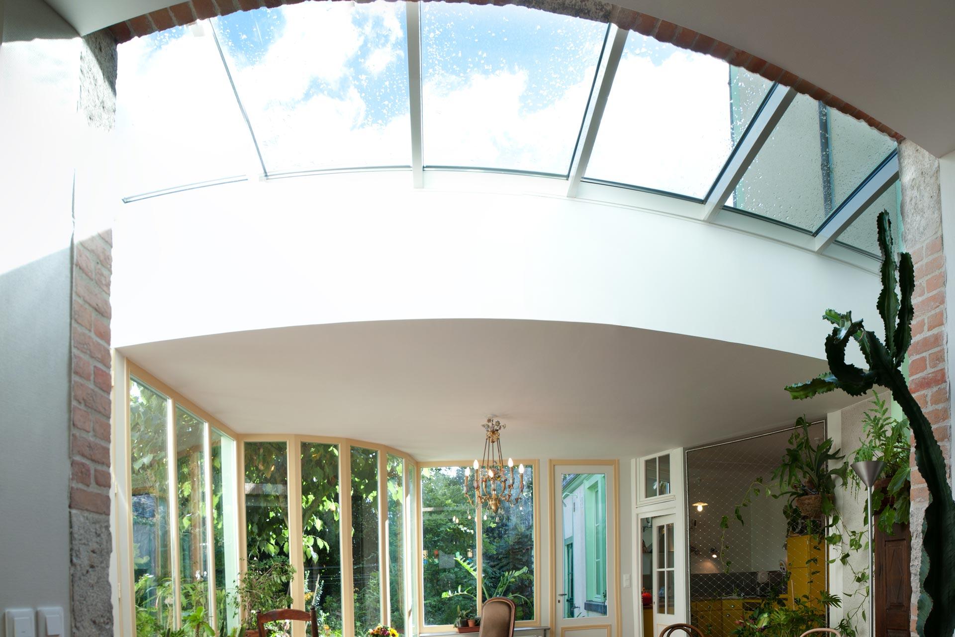 Extension, vitrée et pièce à vivre ouverte sur le jardin
